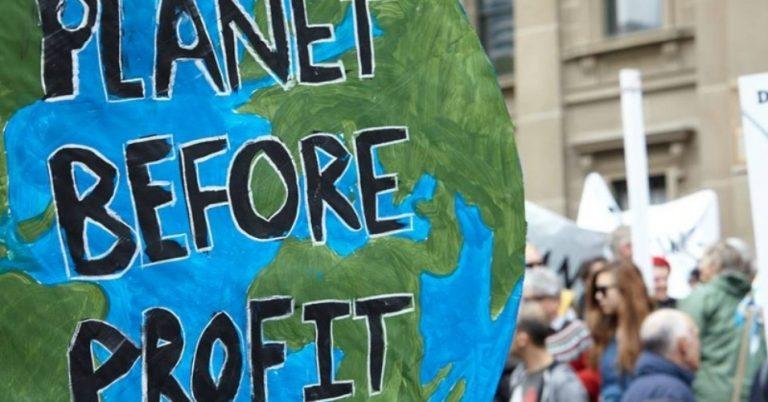 planet before profit climate change